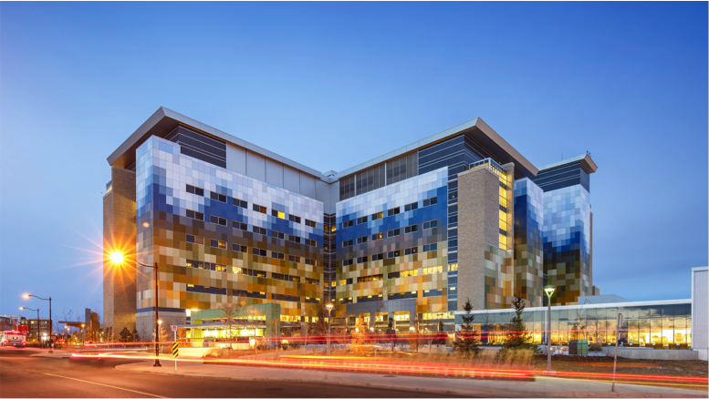 Photo of the exterior of South Health Campus Hospital